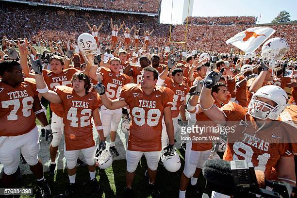 October 2005 - Celebration of the Texas Longhorns after the Texas Longhorns 45-12 win over the Oklahoma Sooners at Cotton Bowl Stadium in Dallas,...
