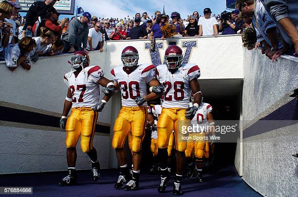USC Trojans Michael Coleman Mike Brittingham and Andre Woodert Washington Huskies 24 USC Trojans 51 Husky Stadium Seattle WA