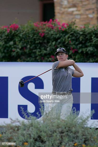 Annika Sorenstam hits a drive on the 15th hole during the second round of the LPGA Samsung World Championship at Big Horn Golf Club in Palm Desert CA