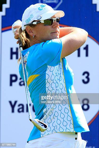 Annika Sorenstam in action during the second round of the ADT Championship on the Trump International Golf Club in West Palm Beach Fl