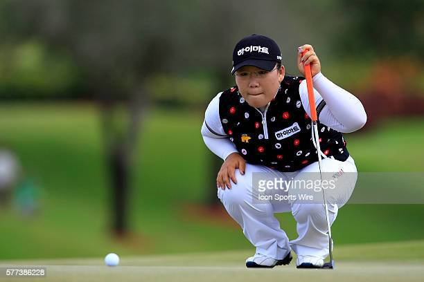 JiYai Shin reads a putt during the final round of the ADT Championship on the Trump International Golf Club in West Palm Beach Fl