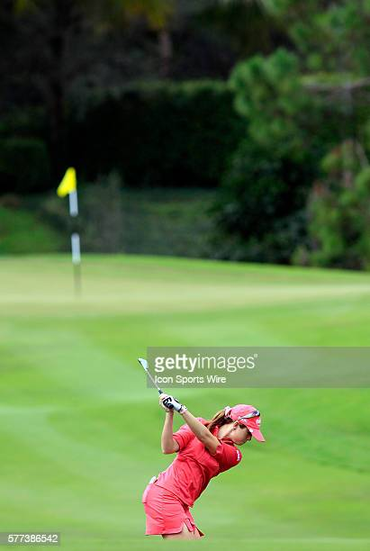 Paula Creamer in action during the final round of the ADT Championship on the Trump International Golf Club in West Palm Beach Fl