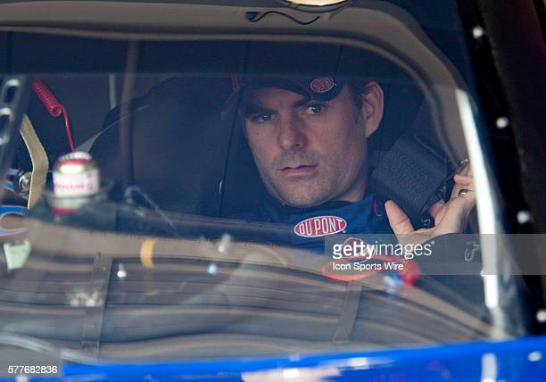 Jeff Gordon driver of the Pepsi / DuPont Chevrolet prior to practice for the Pepsi 500 at the Auto Club Speedway in Fontana CA