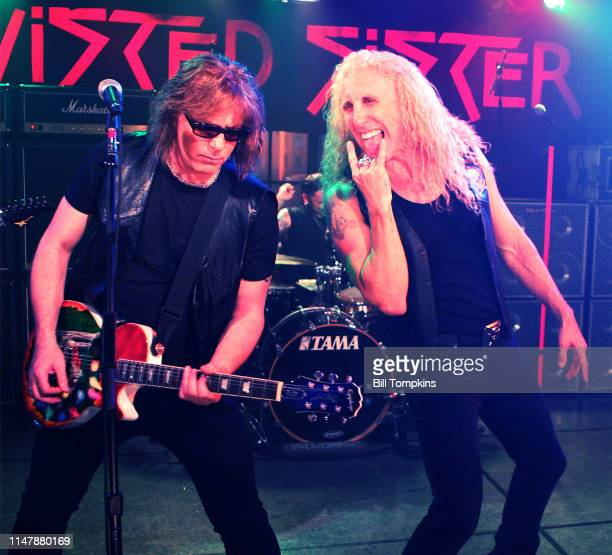 Jj French and Dee Snider of Twisted Sister performing on a television program October 2009 in New York City