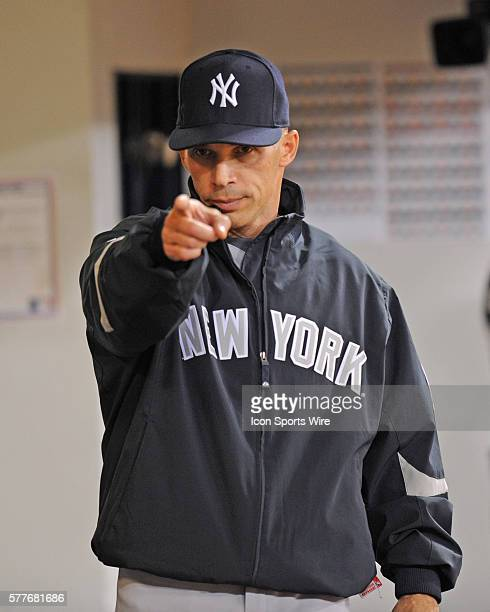 NY Yankees Vs Minnesota Twins Gm3 ALDS The NY Yankees win the ALDS 41 Manager Joe Girardi points inside the dugout