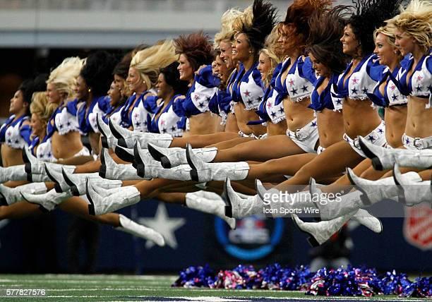 The Dallas Cowboy Cheerleaders prior to the Dallas Cowboys vs. The Jacksonville Jaguars at Cowboys Stadium in Arlington, TX. The Jaguars won 35-17.