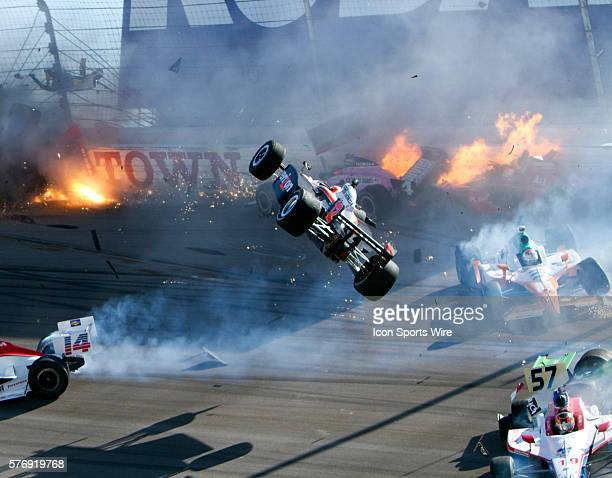Will Power Team Penske flies through the air involving a multiple car crash that took the life of Indy 500 winner Dan Wheldon during the running of...