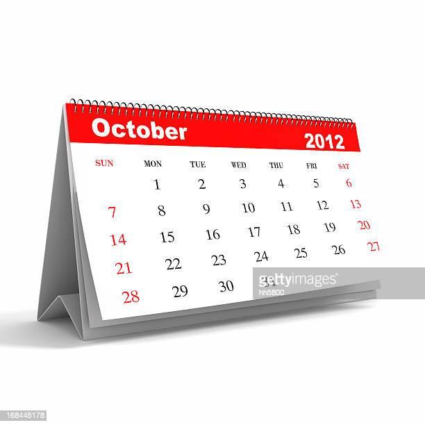 De octubre de 2012, serie calendario