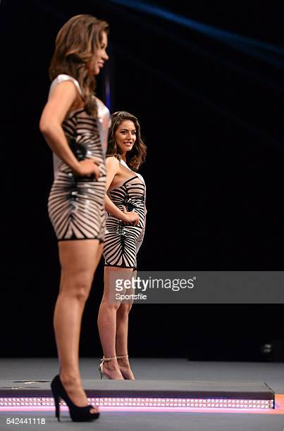9 October 2013 Walk on girls Kelly Donegan right and Hazel O'Sullivan Partypokercom World Grand Prix Citywest Hotel Saggart Co Dublin Picture credit...