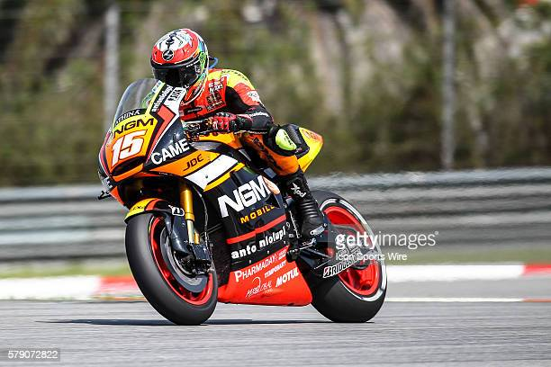 Alex De Angelis of NGM Mobile Forward Racing in action during friday's free practice session of the Malaysian Motorcycle Grand Prix held at Sepang...