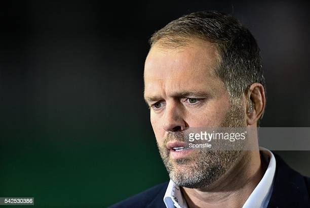 18 October 2014 BT Sport presenter Martin Bayfield European Rugby Champions Cup 2014/15 Pool 3 Round 1 Leicester Tigers v Ulster Welford Road...