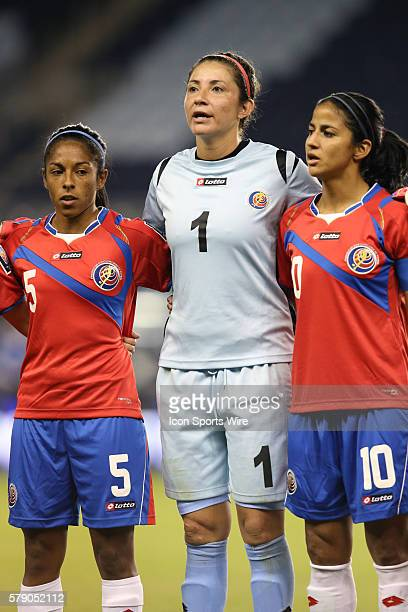Dinnia Diaz with Diana Saenz and Shirley Cruz The Mexico Women's National Team played the Costa Rica Women's National Team at Sporting Park in Kansas...