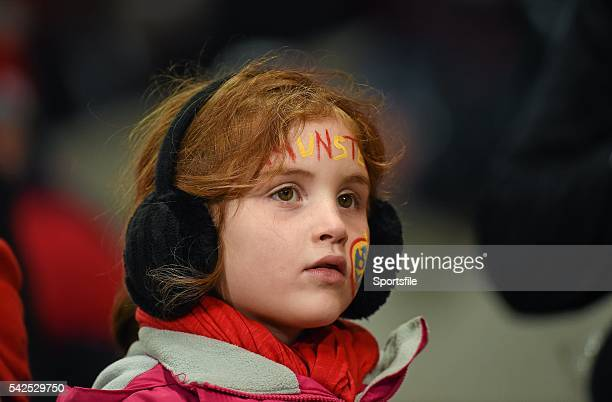 10 October 2014 Munster supporter Elsie Carey aged 6 from Meelick Co Clare during the game Guinness PRO12 Round 6 Munster v Scarlets Thomond Park...