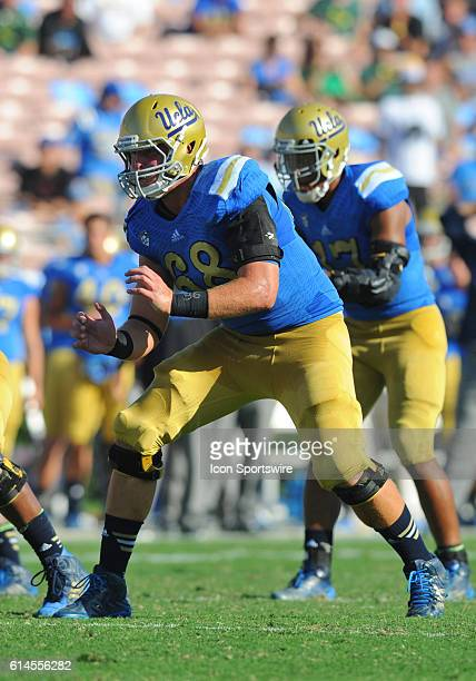UCLA Conor McDermott during an NCAA football game between the Oregon Ducks and the UCLA Bruins at the Rose Bowl in Pasadena CA