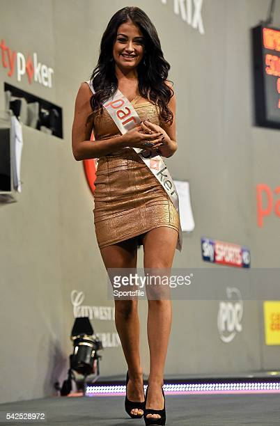 12 October 2014 Walkon girl Jess Impiazzi partypokercom World Grand Prix Final Citywest Hotel Saggart Co Dublin Picture credit Barry Cregg /...