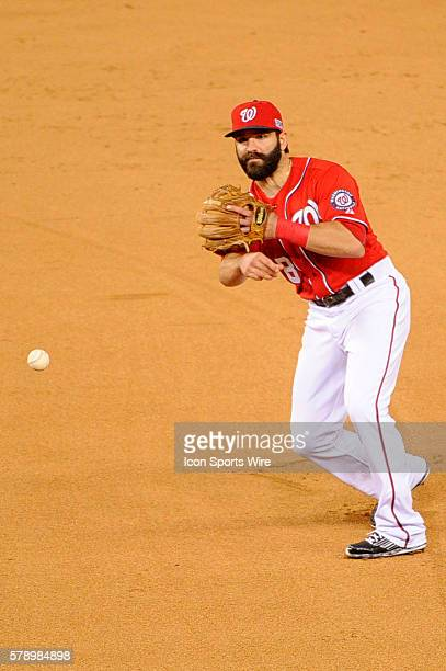 Washington Nationals second baseman Danny Espinosa in action against the San Francisco Giants at Nationals Park in Washington DC in Game 2 of the...