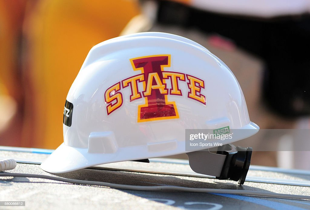 c7431a02 An Iowa State hardhat during 66 - 31 loss to the Red Raiders at ...