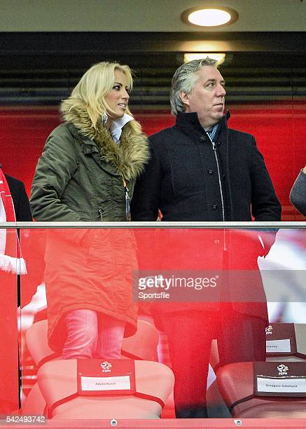 11 October 2015 FAI Chief Executive John Delaney with Emma English before the start of the game between the Republic of Ireland and Poland UEFA EURO...
