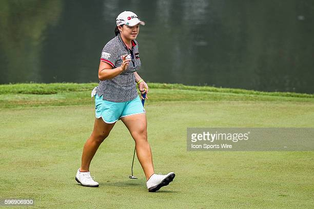 Ha Na Jang of South Korea acknowledge to the crowd during the third round of the 2015 Sime Darby LPGA Malaysia at Kuala Lumpur Golf and Country Club...