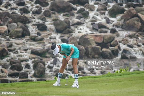 Michelle Wie of Unites States of America play a shot during the third round of the 2015 Sime Darby LPGA Malaysia at Kuala Lumpur Golf and Country...