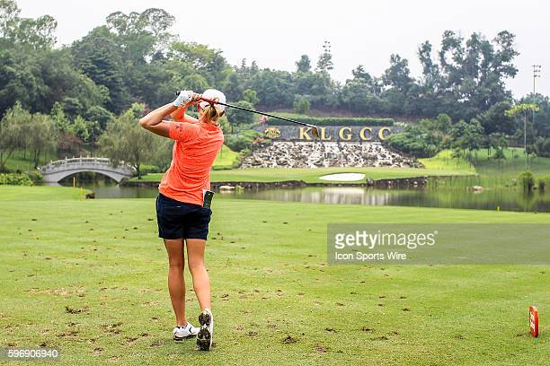Stacy Lewis of Unites States of America play a shot during the third round of the 2015 Sime Darby LPGA Malaysia at Kuala Lumpur Golf and Country Club...