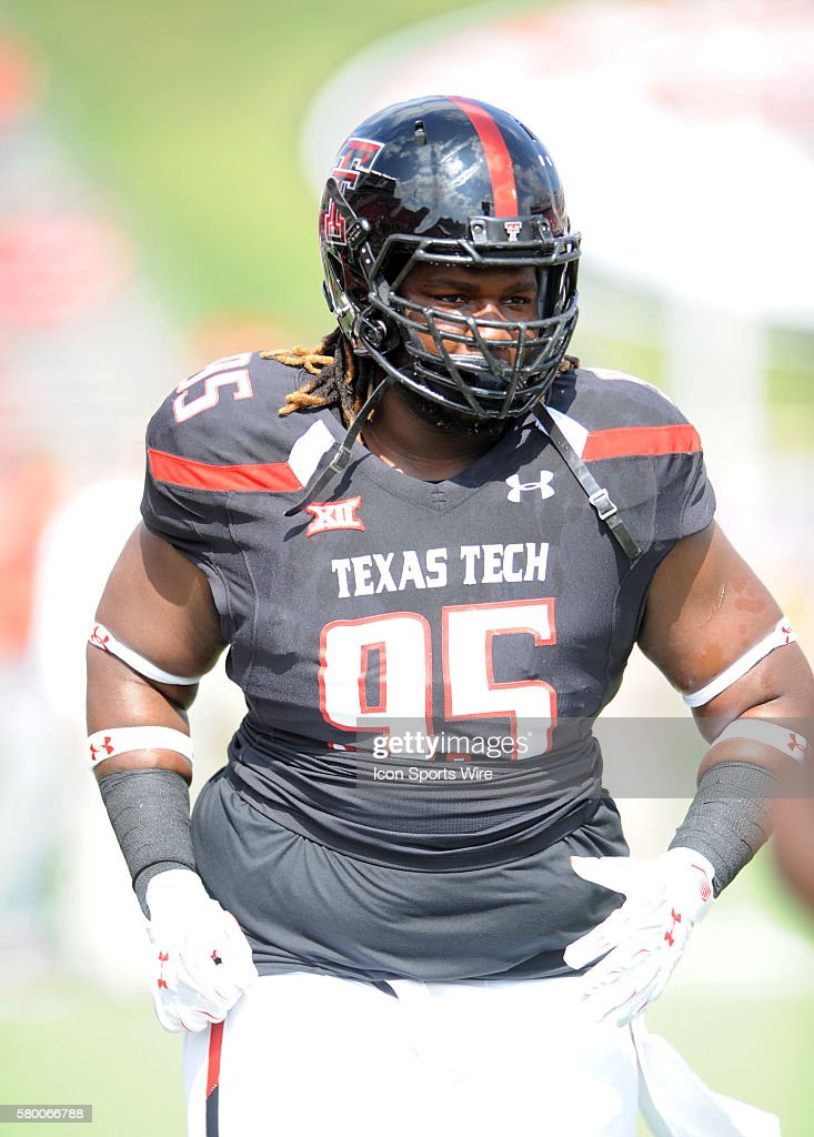 Texas Tech DT Marcus Smith during 66 - 31 win over Iowa