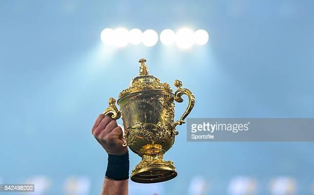 31 October 2015 The Webb Ellis Cup following New Zealand's victory 2015 Rugby World Cup Final New Zealand v Australia Twickenham Stadium Twickenham...