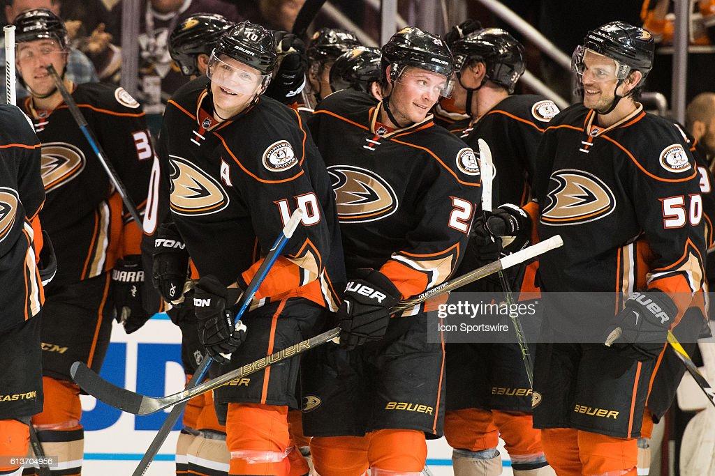 NHL: OCT 09 Preseason - Sharks at Ducks : News Photo