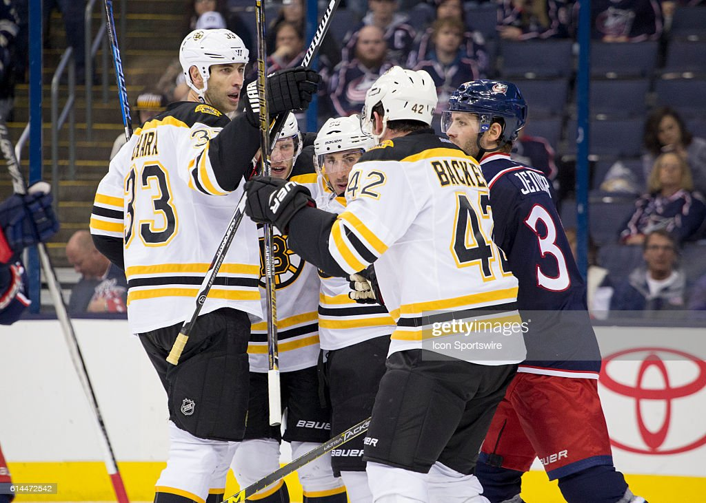 NHL: OCT 13 Bruins at Blue Jackets : News Photo