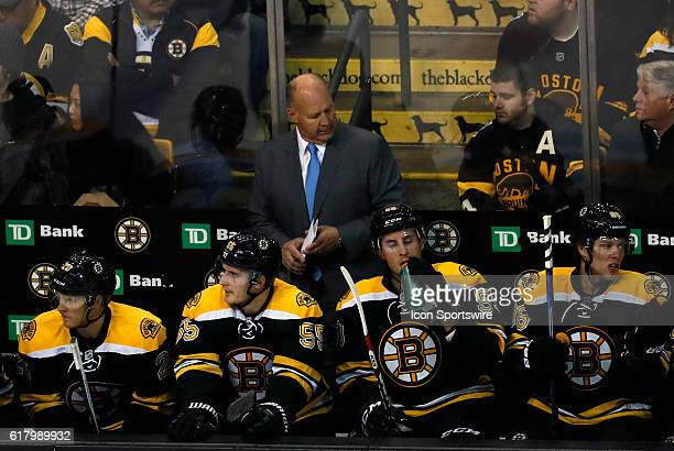 Boston Bruins head coach Claude Julien ponders a missed chance. The Montreal Canadiens defeated the Boston Bruins 4-2 in a regular season NHL game at...