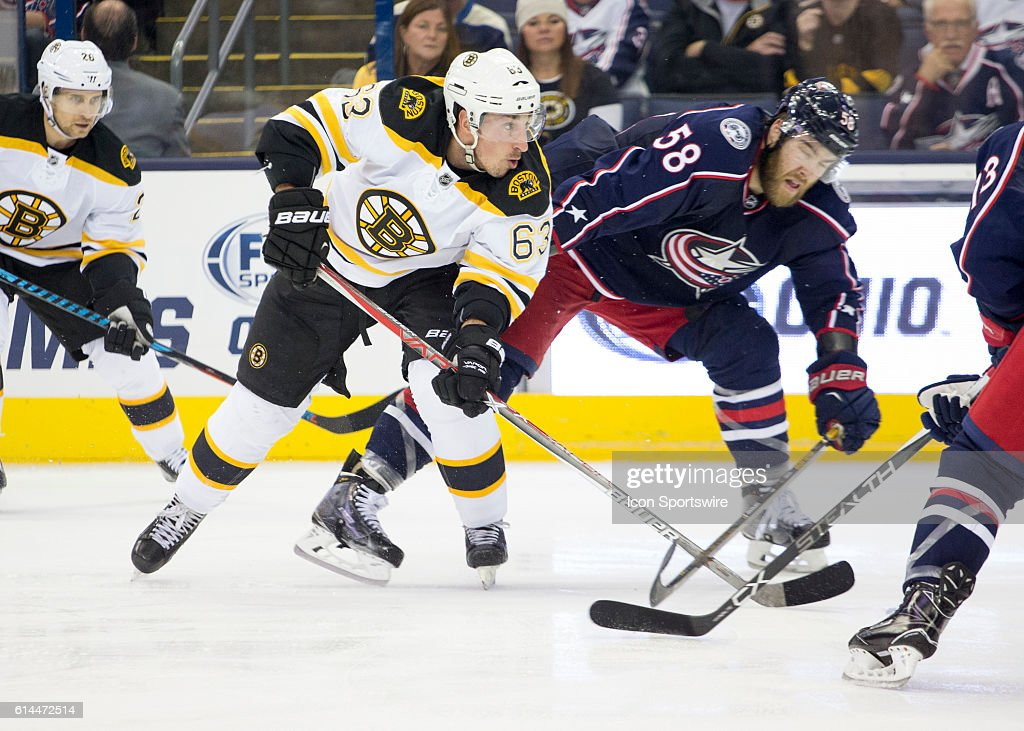 NHL: OCT 13 Bruins at Blue Jackets : News Photo