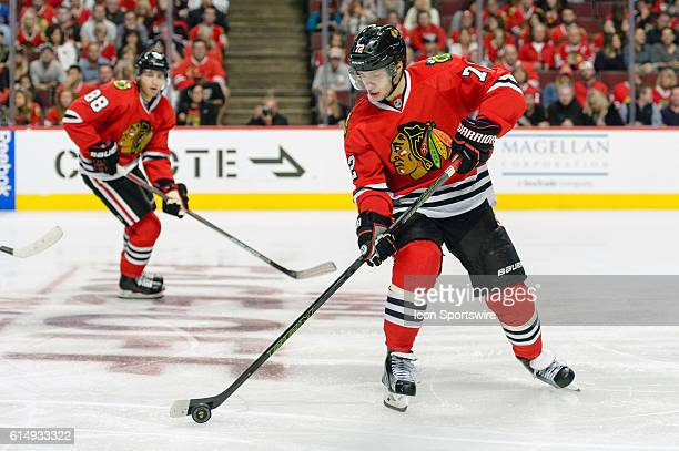 Chicago Blackhawks Left Wing Artemi Panarin in the 3rd period during a game between the Nashville Predators and the Chicago Blackhawks at the United...