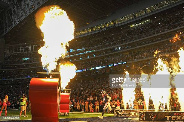 Houston Texans Quarterback Brock Osweiler is introduced before the NFL game between the Indianapolis Colts and Houston Texans at NRG Stadium,...