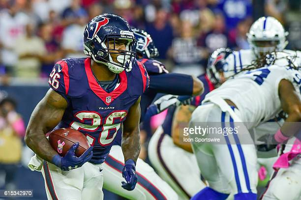 Houston Texans Running Back Lamar Miller during the NFL game between the Indianapolis Colts and Houston Texans at NRG Stadium, Houston, Texas.