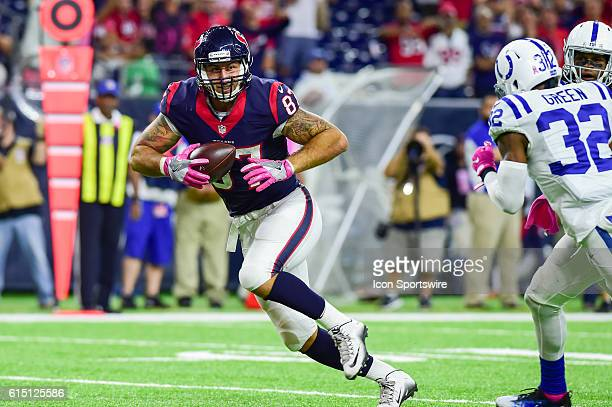 Houston Texans Tight End C.J. Fiedorowicz hauls in a pass over the middle for a late second half touchdown that sent the game into overtime during...