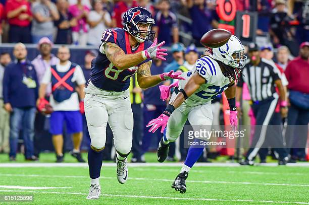 Houston Texans Tight End CJ Fiedorowicz hauls in a pass over the middle for a late second half touchdown that sent the game into overtime during the...