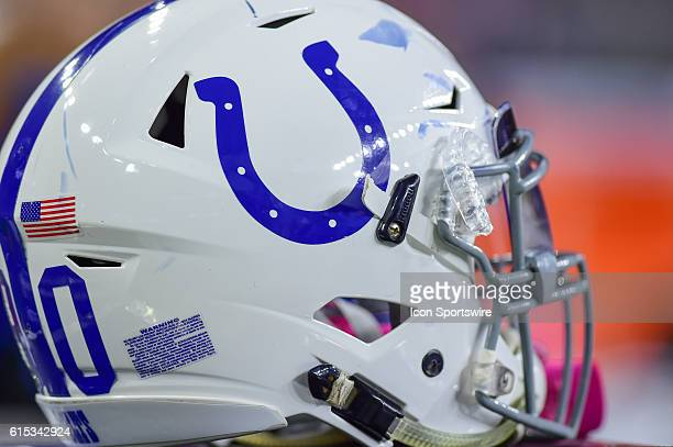 Indianapolis Colts helmet during the NFL game between the Indianapolis Colts and Houston Texans at NRG Stadium Houston Texas
