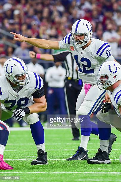 Indianapolis Colts Quarterback Andrew Luck during the NFL game between the Indianapolis Colts and Houston Texans at NRG Stadium, Houston, Texas.