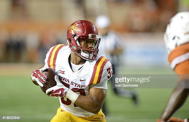 Iowa State RB David Montgomery during 27 6 loss to the Longhorns at Darrell K Royal Texas Memorial Stadium in Austin TX