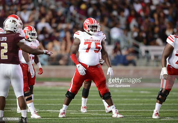 Louisiana Lafayette guard Kevin Dotson during 27 3 win over Texas State at Jim Wacker Field at Bobcat Stadium in San Marcos TX