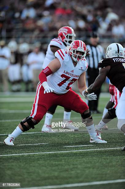 Louisiana Lafayette tackle Grant Horst during 27 3 win over Texas State at Jim Wacker Field at Bobcat Stadium in San Marcos TX
