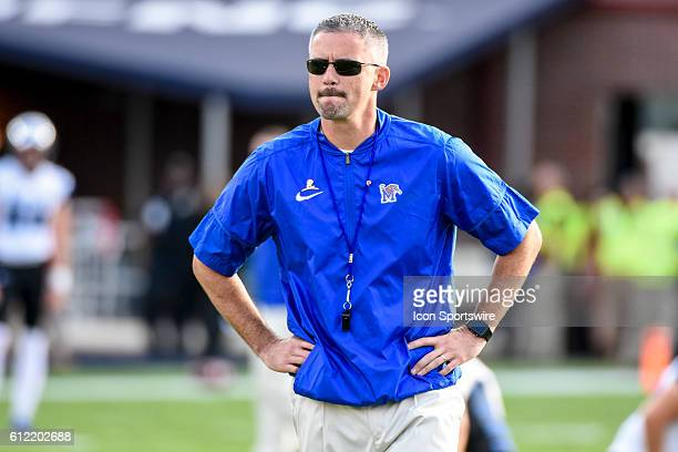 Memphis Tigers head coach Mike Norvell before the Ole Miss Rebels 4828 win over the Memphis Tigers at VaughtHemingway Stadium in Oxford Mississippi