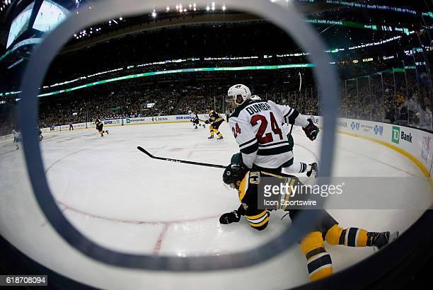 Minnesota Wild defenseman Matt Dumba keeps Boston Bruins right defenseman Colin Miller on the ice The Minnesota Wild defeated the Boston Bruins 50 in...