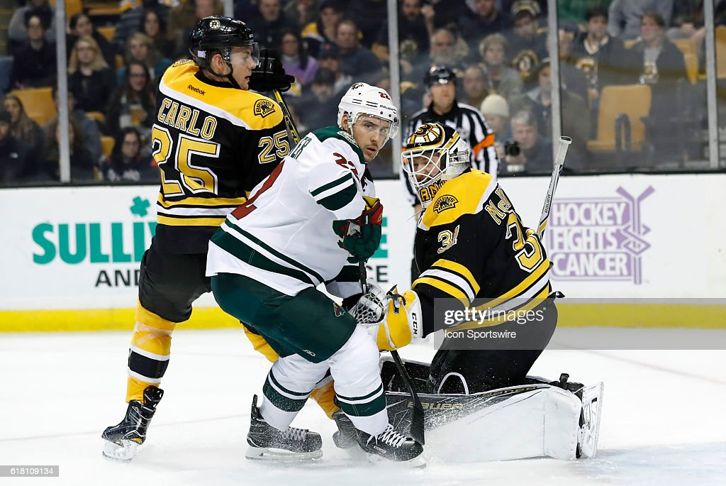 NHL: OCT 25 Wild at Bruins : News Photo