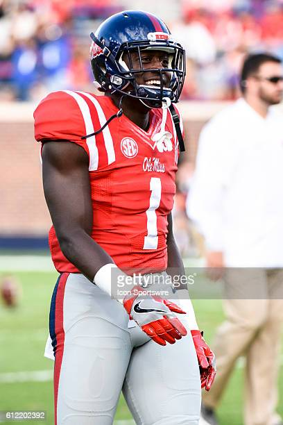 Mississippi Rebels wide receiver AJ Brown prior to the Ole Miss Rebels 4828 win over the Memphis Tigers at VaughtHemingway Stadium in Oxford...