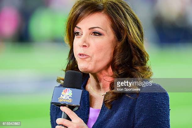 NBC Sports sideline reporter Michelle Tafoya during the NFL game between the Indianapolis Colts and Houston Texans at NRG Stadium Houston Texas