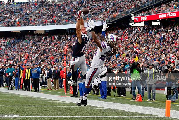 New England Patriots wide receiver Chris Hogan can not catch the ball with Buffalo Bills cornerback Stephon Gilmore covering The Buffalo Bills...
