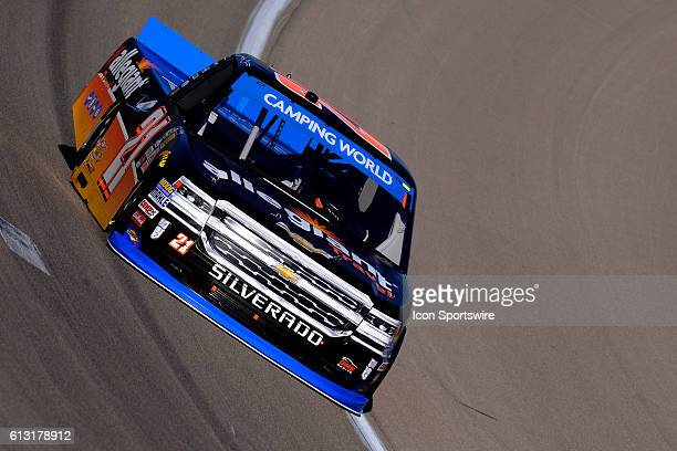Saturday Johnny Sauter GMS Racing Chevrolet Silverado practices for the 20th DC Solar 350 NASCAR Camping World Truck Series event at Las Vegas Motor...
