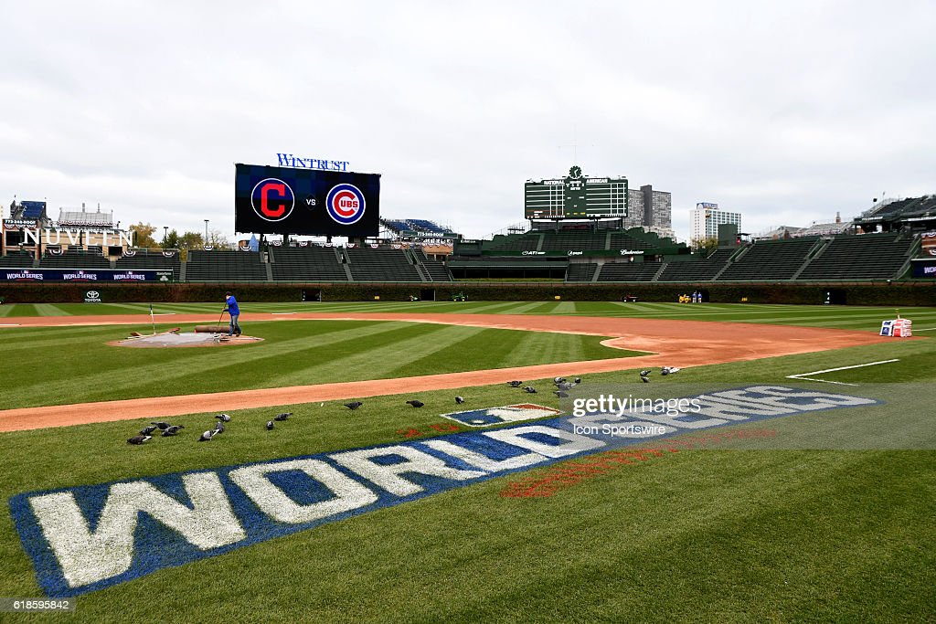 MLB: OCT 27 World Series - Workouts - Indians at Cubs : News Photo