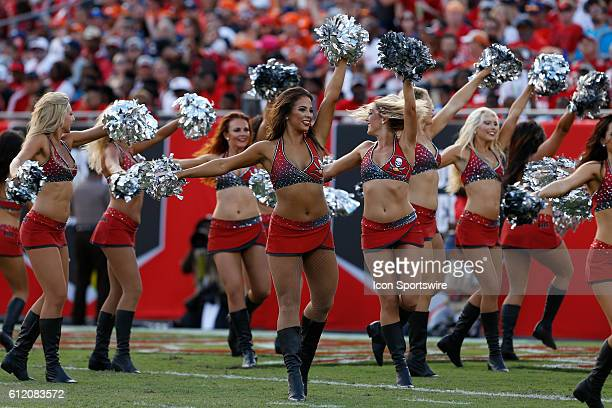 Tampa Bay Buccaneers cheerleader in action during the NFL regular season game between the Denver Broncos and Tampa Bay Buccaneers at Raymond James...